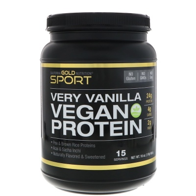 Протеин California Gold Nutrition Vegan protein 454 гр.